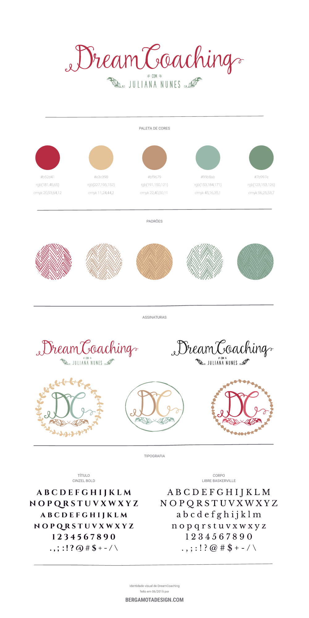 DreamCoaching | Identidade visual por bergamotadesign.com
